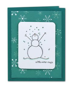 Winter Magic Snowman Card - click through for project instructions.