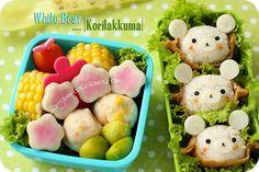 rilakkuma onigiri in aburaage Cute Food, Good Food, Rice Balls, Rilakkuma, Food Humor, Cakes And More, Rice Recipes, Japanese Food, Sushi