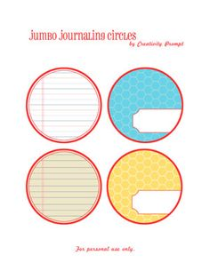 TONS of free labels for journaling for personal use only.....