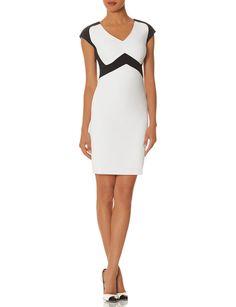 Black & White Sheath Dress   SCANDAL   THE LIMITED