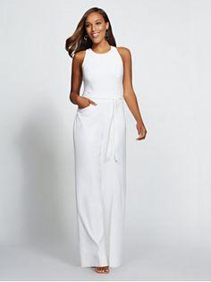 5eeae21b0ad White Halter Jumpsuit - Gabrielle Union Collection