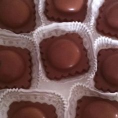 Milk chocolate molded ravioli filled with Nutella!!! (I know this is ...
