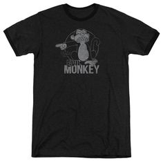 """Checkout our #LicensedGear products FREE SHIPPING + 10% OFF Coupon Code """"Official"""" Family Guy / Evil Monkey - Adult Heather Ringer - Family Guy / Evil Monkey - Adult Heather Ringer - Price: $34.99. Buy now at https://officiallylicensedgear.com/family-guy-evil-monkey-adult-heather-ringer"""