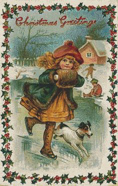 Vintage Christmas Cross Stitch Pattern, Christmas Greetings, Digital Download