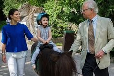 Three generations of the Swedish royal family at the park SkansenThe King Carl Gustaf, Crown Princess Victoria and Princess Estelle of Sweden spent a relaxing together at Skansen zoo on the island of Djurgarden in Stockholm.