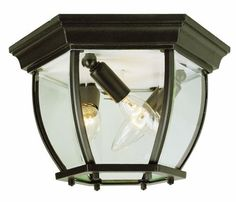 """Trans Globe Lighting 4906 WH 6-1/2-Inch 3-Light Outdoor Flushmount, White by Trans Globe Lighting. $47.31. From the Manufacturer                Trans Globe Lighting 4906 WH 6-1/2-Inch 3-Light Outdoor Flushmount, White                                    Product Description                4906 WH Finish: White, Size: 6.5"""" H x 11"""" W Features: -Flush mount.-Beveled glass.-UL listed. Construction: -Cast aluminum construction. Color/Finish: -Black finish.-Black copper f..."""