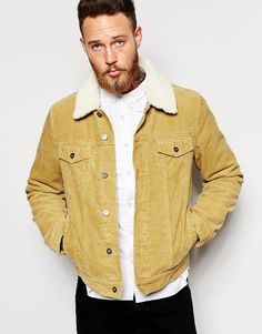 Image 1 of ASOS Cord Western Jacket