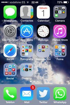 Pantalla de inicio de iPhone y apps más usadas de 82 usuarios de redes sociales | Blog de ChristianDvE (Beta)
