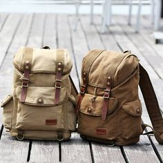Canvas Casual Multi-pocket Shoulder Bag Climbing Outdoor Travel Sports Backpack For Men Online - NewChic
