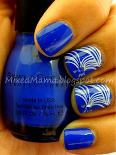 Image Plate m69 and Sinful Colors Endless Blue