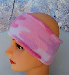 Pink Camo Ear Warmer, Girls Pink Camo Headwear, Pink Camo Headband, Pink Fleece Earmuffs, Pink Winter Headbands, Fleece Headband Pattern by StephFleeceDesigns on Etsy