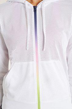 Rainbow Zip Active Mesh Jacket | Forever 21