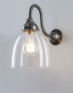 This wall light combines the elegance of a swan arm with the classic beauty of our blown glass shades. Perfect for a beautiful living space, Hallway Wall Lights, Glass Wall Lights, Bathroom Wall Lights, Mirror With Lights, Bathroom Lighting, Hallway Ideas, Wall Sconces, Lounge Lighting, Hall Lighting
