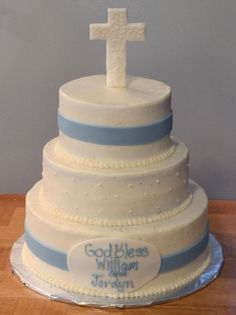 baptism cake By Jackofallcakes on CakeCentral.com