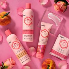 Hask Rose Oil + Peach Shampoo and Conditioner nourishes each hair strand, reduced frizz, adds shine, and help prevents your hair color from fading. Natural Hair Shampoo, Shampoo For Curly Hair, Good Shampoo And Conditioner, Curly Hair Styles, Natural Hair Styles, Peach Hair, Hair Frizz, Brittle Hair, Hair