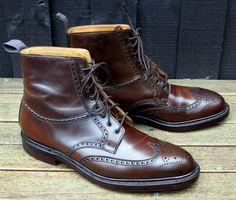 Ralph Lauren Lindrick boot - made by Crockett and Jones *drool* Sock Shoes, Men's Shoes, Shoe Boots, Dress Shoes, Cordovan Shoes, Brogues, Fashion Boots, Mens Fashion, Dapper Gentleman
