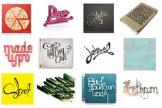 Typography Projects 2 by Mats Ottdal, via Behance - I think i have an idea for my wedding invites!