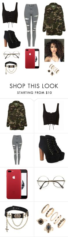 """Untitled #90"" by gissellebeltre on Polyvore featuring Topshop, Jeffrey Campbell and ASAP"
