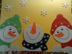 Fenstergucker Schneemänner Fensterbilder Tonkarton • EUR 8,50 - PicClick DE