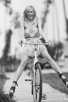 #heels and wheels. #bike #style