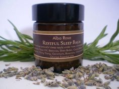 Restful Sleep Balm is made with a calming floral-citrus blend of essential oils.This balm is designed to aid relaxation and encourage peaceful sleep. Candle Jars, The Balm, Essential Oils, Soap, How To Apply, Skin Care, Personal Care, Calming, Floral