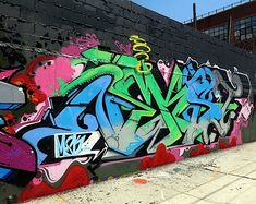 Ownes graffiti tribute to Nekst Bushwick Graffiti Mural Tribute to NEKST Takes It to the Next Level: Pose, Dabs Myla, Rime, Dmote, El Kamino...