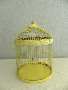 vintage yellow birdcage Would love to find one of these at a yard sale