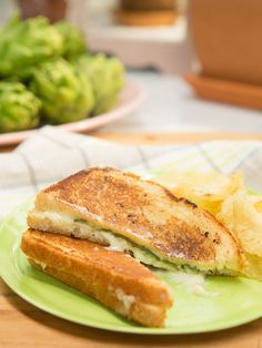 Jalapeno Popper Grilled Cheese : Leave it to Sandwich King Jeff to mash up the traditional grilled cheese with another tried-and-true comfort food: the jalapeno popper. He sandwiches tender halved jalapenos with cheddar and rich mascarpone cheeses between slices of buttery bread.