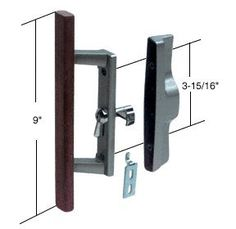 """Sliding Glass Patio Door Handle Set with Internal Lock for Viking Doors, 3-15/16"""" Screw Holes, Non-Keyed, Wood/Aluminum by C.R. Laurence. $16.05. C.R. LAURENCE C1018 CRL Wood/Aluminum Non-Keyed Internal Lock Sliding Glass Door Handle Set With 3-15/16"""" Screw Holes for Viking Doors. The CRL Internal Lock Handle is easily installed and reversible for either right or left hand applications. It has an automatic unlatching feature which prevents accidental lockout. The ha..."""