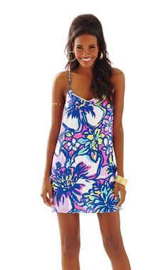 Dusk Strappy Silk Slip Dress - Lilly Pulitzer Tropical Pink Catwalkin