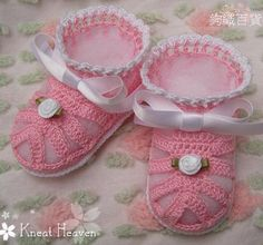 Boutique Crochet All Dressed Up Baby Booties, Kneat Heaven Boutique