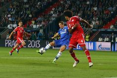 Torres opens the scoring for Chelsea after only eight minutes of the Super Cup match with Bayern in Prague, only for Ribéry, the France winger, to equalise early in the second half and force the game into extra time