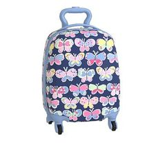 Hard Sided Small Luggage, Mackenzie Tropical Butterflies