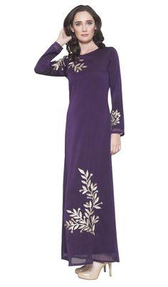 ce5222b0da9e Kendall Long Sleeve Modest Muslim Formal Evening Dress - Purple -  ARTIZARA.COM Long Sleeve