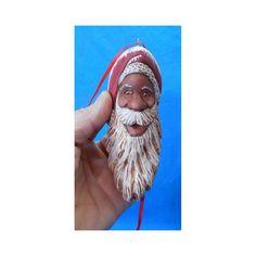Black Santa Claus Ornament #15086