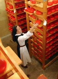 This nunnery in Crozet, VA makes Gouda!  And you can order it!  Or go see them in person!  That's just awesome!