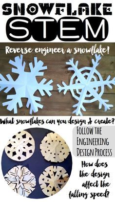 Winter STEM Challenges - Snowflake STEM Snowflake STEM activity - a fun winter engineering task to i Steam Activities, Christmas Activities, Winter Activities, Science Activities, Science Experiments, Science Ideas, Science Education, Eyfs Activities, Steam Education