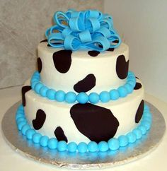 Baby boy cow cake!