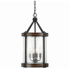 Kichler Lighting Barrington 12.01-in Distressed Black and Wood Rustic... ($139) ❤ liked on Polyvore featuring home, lighting, ceiling lights, wooden ceiling lights, kichler pendant lighting, wooden pendant lights, wood pendant lamp and kichler pendant light