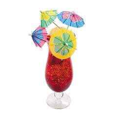 Parasol Picks with Large Hibiscus Print Flowers - OrientalTrading.com $4.99 for 144