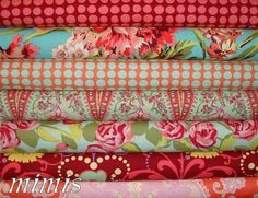 Amy Butler Fabric / Love CAP 1 HEART /  7 Half Yards by mimis, $32.99