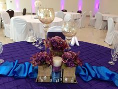 Royal blue, purple And lavender. BNB Event Rentals