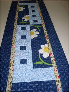 Caminho de mesa em patchwork, feito em tecidos de algodão, Estruturado com…