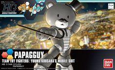 Bandai Hobby Gundam Build Fighters Try HGBF PapaGGuy HG 1/144 Model Kit