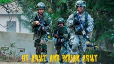 Indian Army and US Army Joint drill...