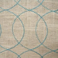 Stitched linen accent fabric