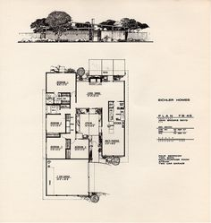 Eichler Homes of Foster City brochure: Leaflet 4 - Plan FB-4S by John Brooks Boyd by atomicpear, via Flickr