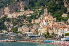 Aerial view of Amalfi, Italy