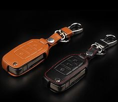 car accessories leather car key wallet key case for Skoda Superb Yeti Octavia A5 Fabia Rapid 3keys flip key cover