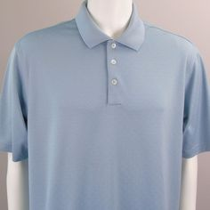 a644a06e92 Adidas Climacool Polo Shirt XL Short Sleeve Men Blue Textured Pattern  Polyester  adidas  PoloRugby